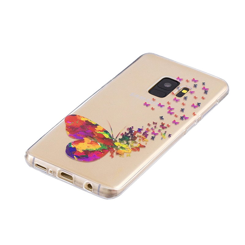 Samsung Printed Rubber Case Soft TPU Protective Phone Cover Shell for Galaxy S9 - Butterfly