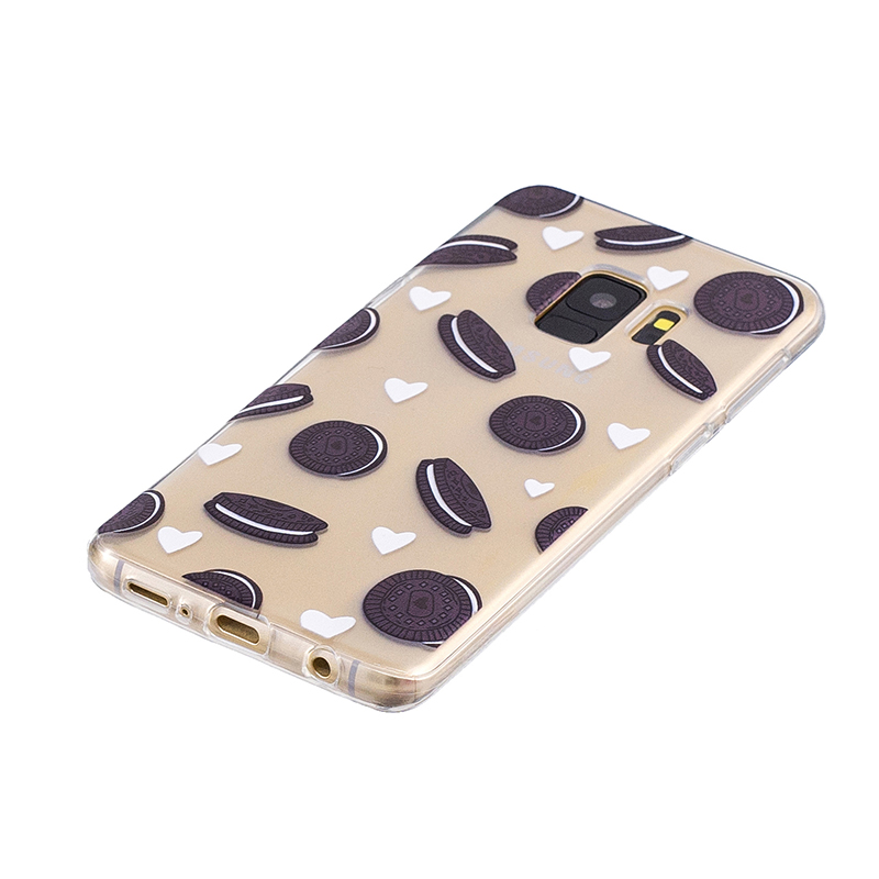 Samsung Printed Rubber Case Soft TPU Protective Phone Cover Shell for Galaxy S9 - Cookies