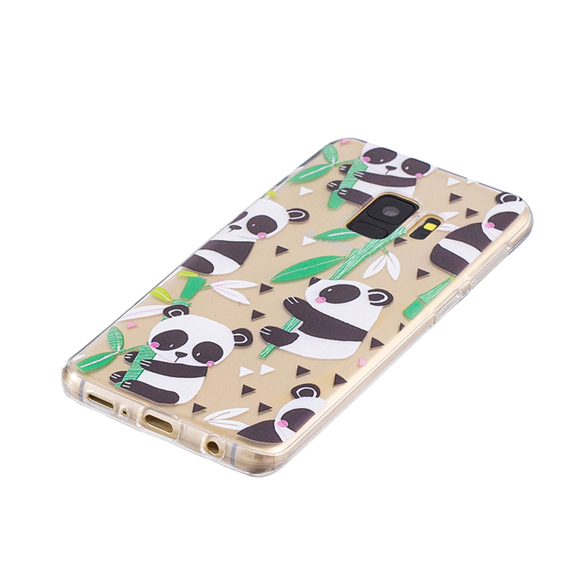 Samsung Printed Rubber Case Soft TPU Protective Phone Cover Shell for Galaxy S9 - Bamboo Panda