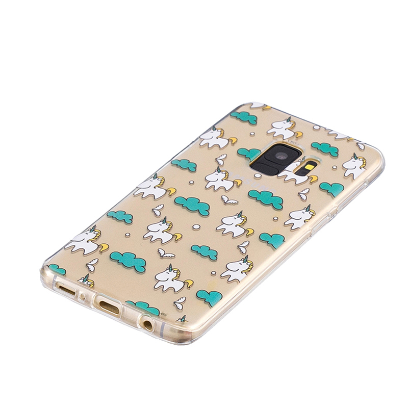 Samsung Printed Rubber Case Soft TPU Protective Phone Cover Shell for Galaxy S9 - Pegasus