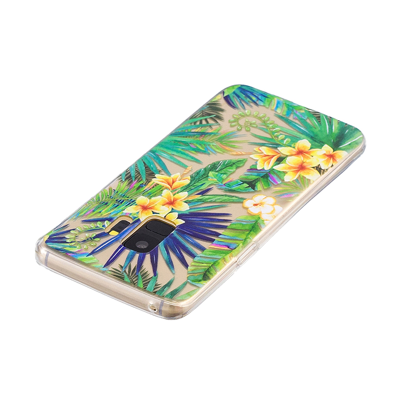 Samsung Printed Rubber Case Soft TPU Protective Phone Cover Shell for Galaxy S9 - Rainforest