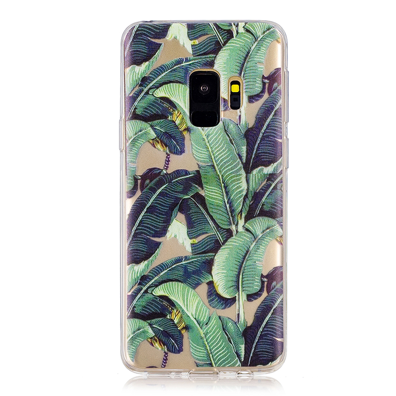 Samsung Printed Rubber Case Soft TPU Protective Phone Cover Shell for Galaxy S9 - Banana Tree