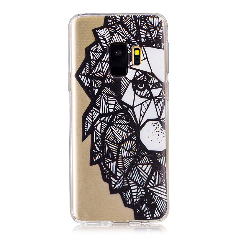 Samsung Printed Rubber Case Soft TPU Protective Phone Cover Shell for Galaxy S9 - Lion