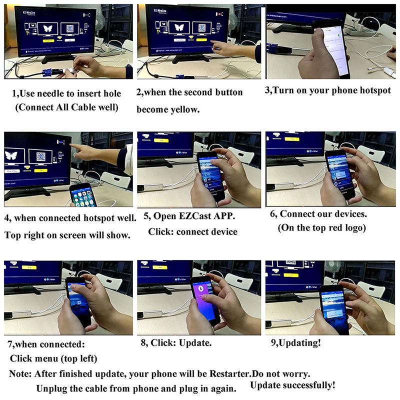 LD8 MiraScreen Lightning to HDMI Cable Display Digital AV Adapter