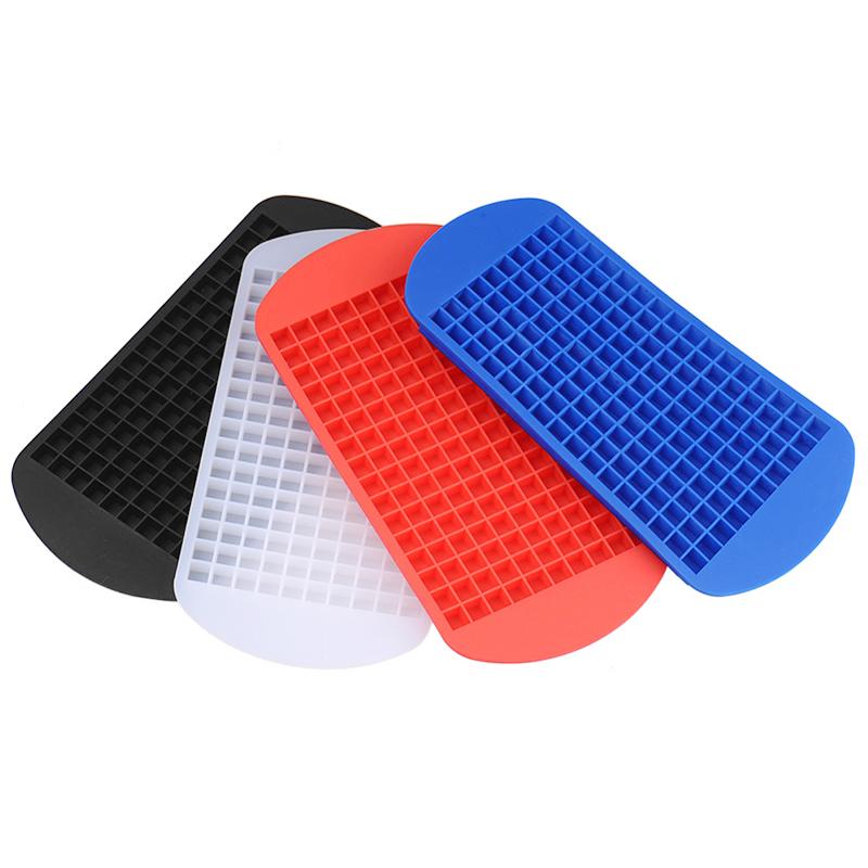 Silicone 160 Grids Cavity Mini Square Ice Cube Tray Maker Mold - White