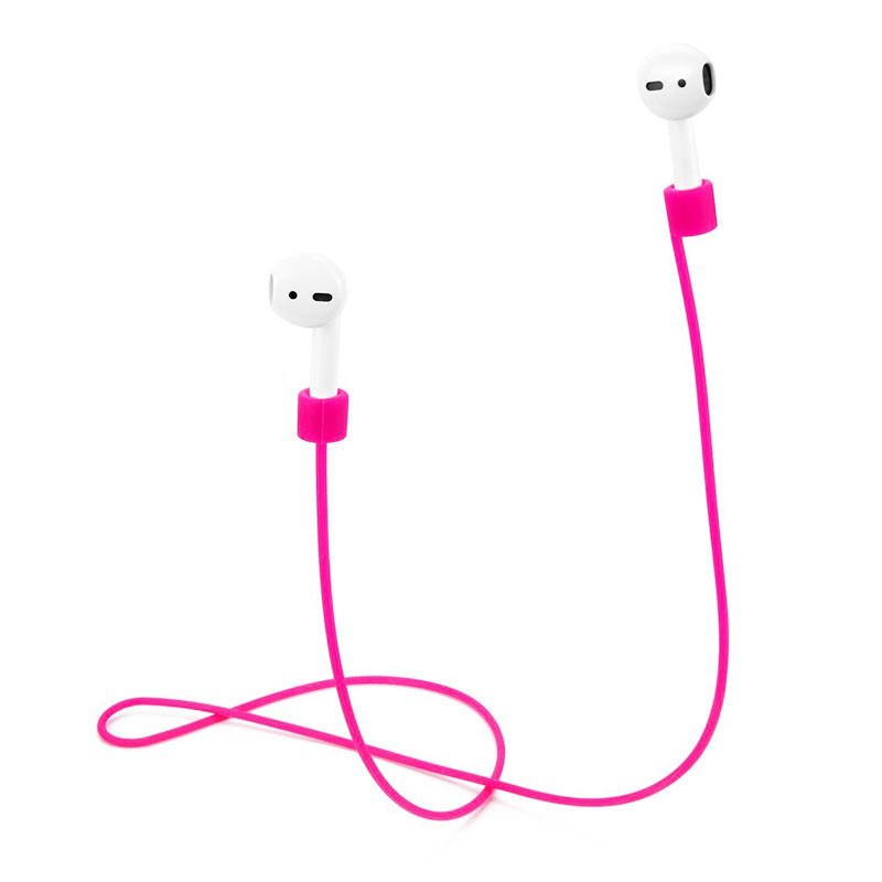70CM AirPods Silicone Strap Bluetooth Earphone Anti-lost Loop String Rope Connector - Pink