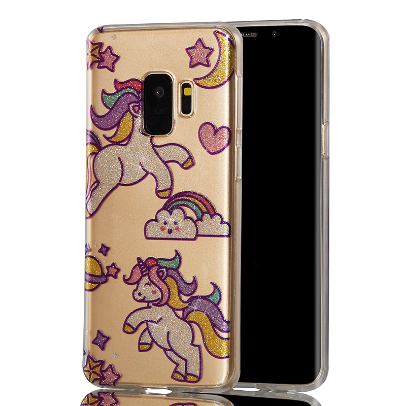 Ultra Thin Bling Glitter Cover Slim TPU Case for Samsung Galaxy S9 - Unicorn