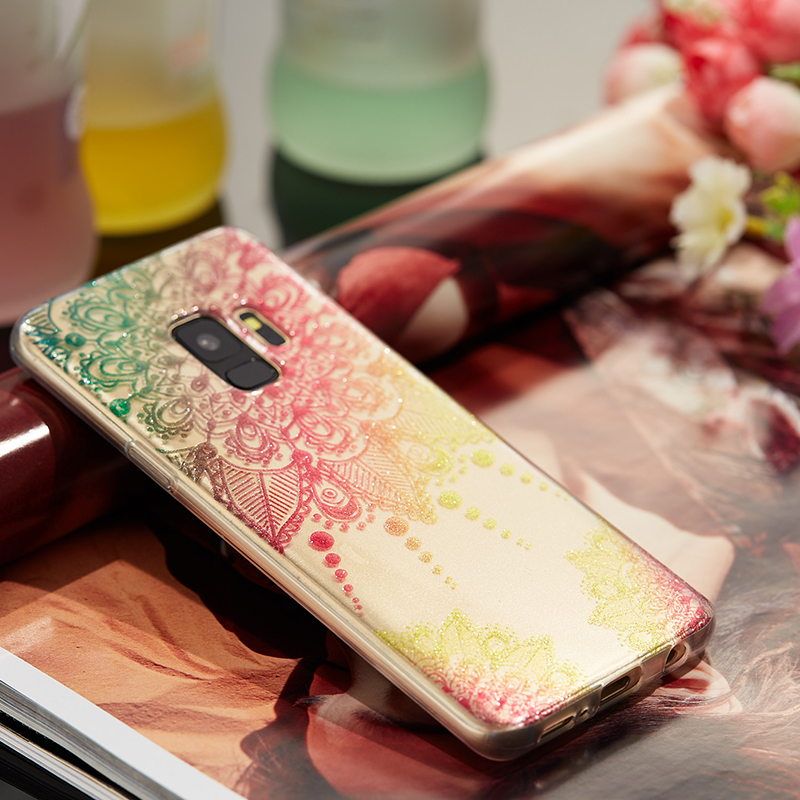 Ultra Thin Bling Glitter Cover Slim TPU Case for Samsung Galaxy S9 - Datura