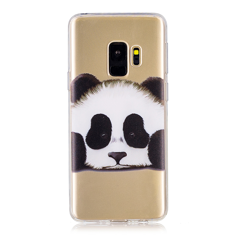 Samsung Printed Rubber Case Soft TPU Protective Phone Cover Shell for Galaxy S9 - Panda