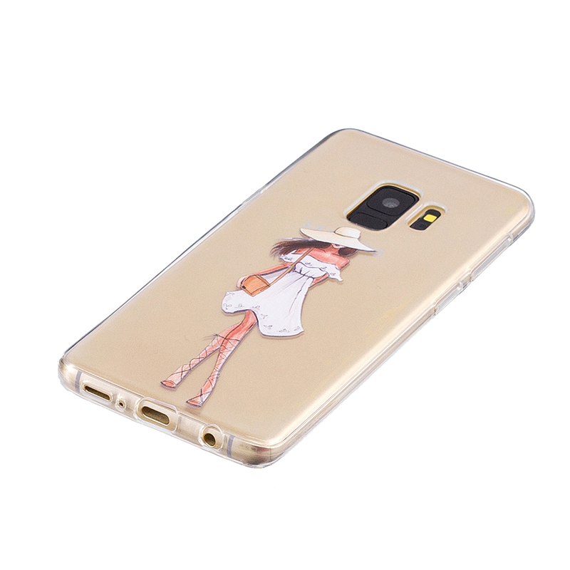 Samsung Printed Rubber Case Soft TPU Protective Phone Cover Shell for Galaxy S9 - Dress Girl