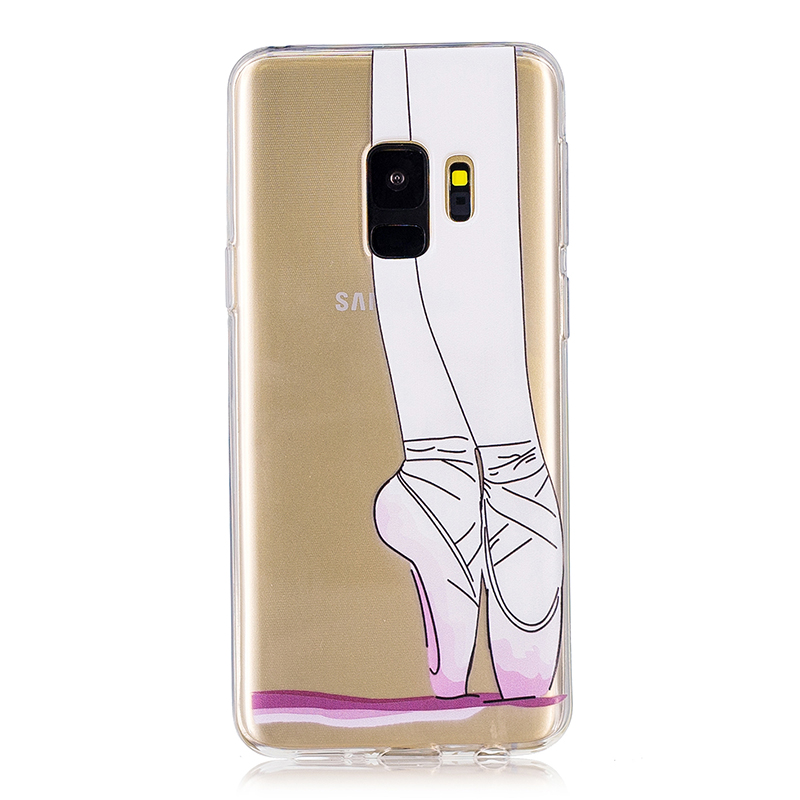 Samsung Printed Rubber Case Soft TPU Protective Phone Cover Shell for Galaxy S9 - Ballet