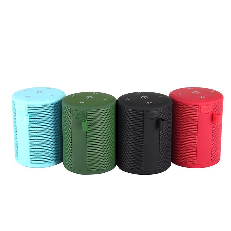 T2 Mini Wireless Bluetooth Speaker Ultra Portable Outdoor Waterproof Music Box - Red