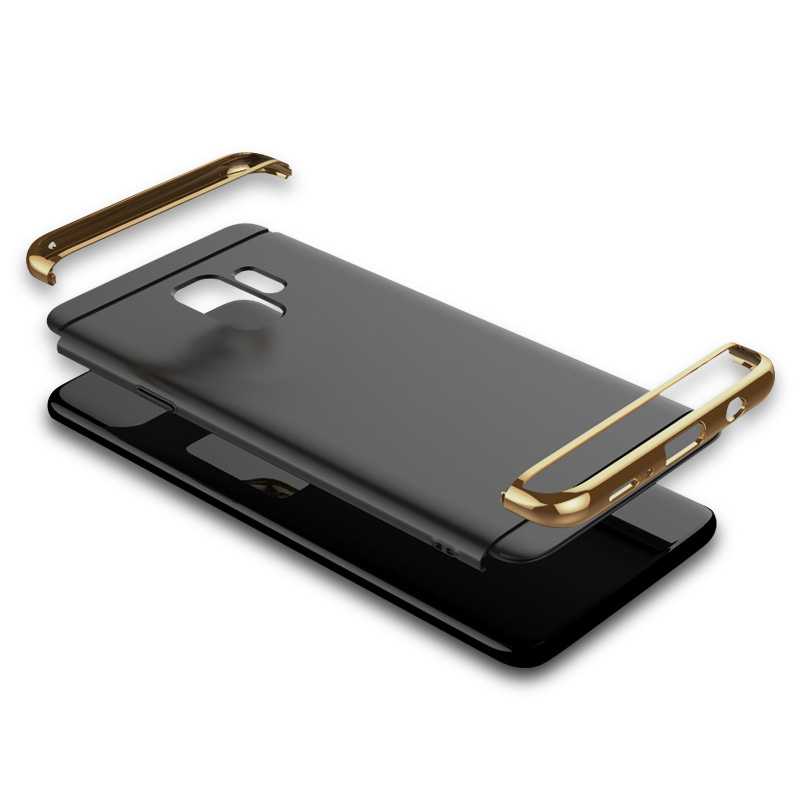 Ultra-Thin Slim 3in1 Luxury Hard PC Protective Case Back Cover for Samsung S9 - Black