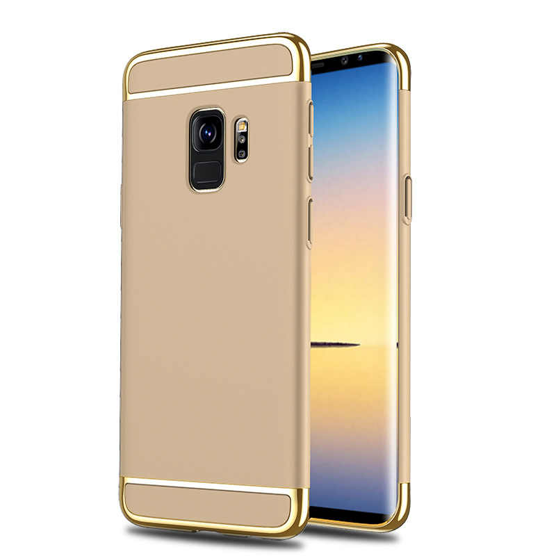 Ultra-Thin Slim 3in1 Luxury Hard PC Protective Case Back Cover for Samsung S9 - Golden