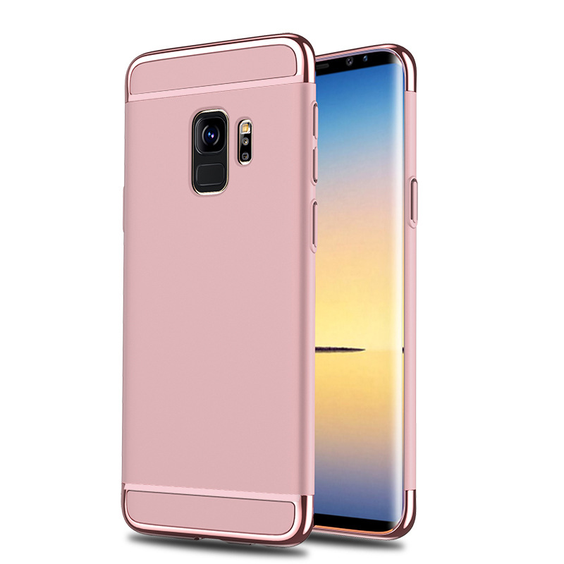 Ultra-Thin Slim 3in1 Luxury Hard PC Protective Case Back Cover for Samsung S9 - Rose Golden