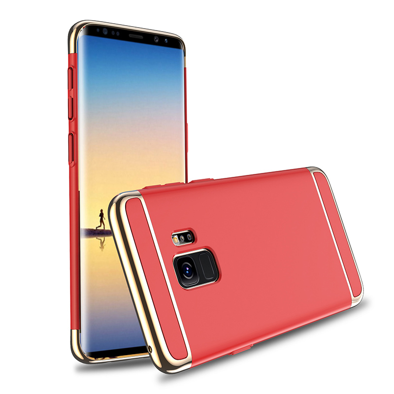 Ultra-Thin Slim 3in1 Luxury Hard PC Protective Case Back Cover for Samsung S9 - Red