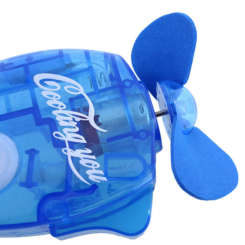 Mini Water Cooling Spray Fan Cool Air Fan Portable Handheld Gadget Sport - Blue