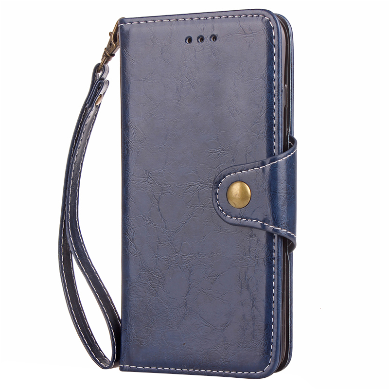 PU Leather Skin Wallet Card Case for Samsung Galaxy S8 Plus - Blue