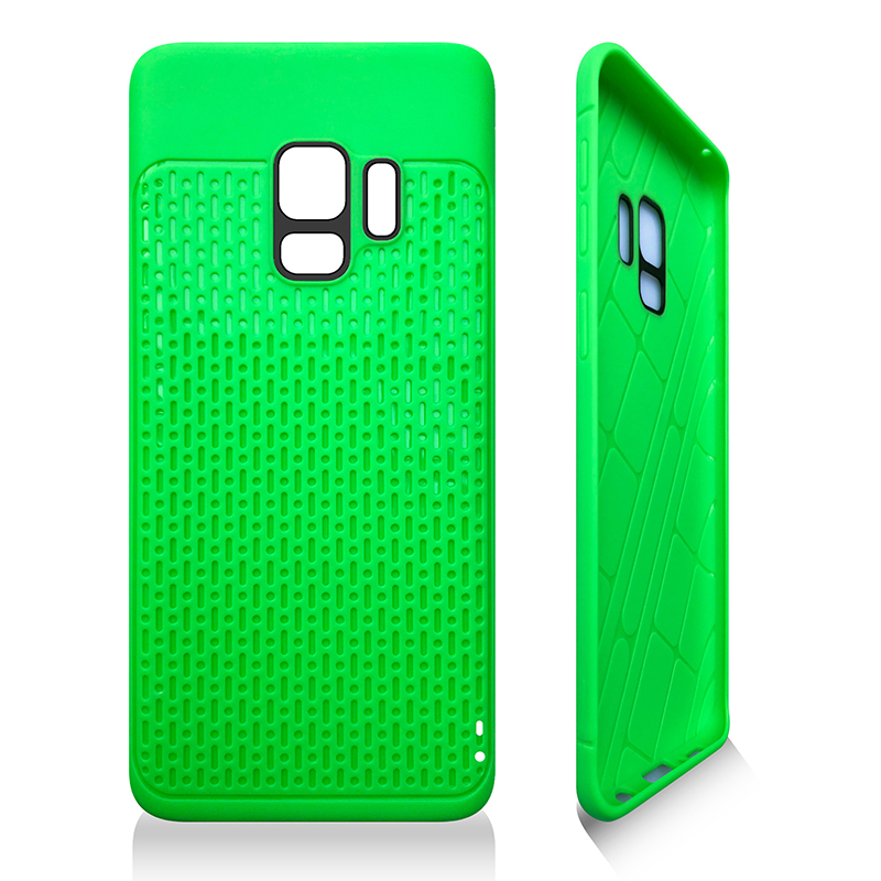 Anti-slip TPU + PC Shockproof Phone Bumper Case Cover for Samsung Galaxy S9 - Green
