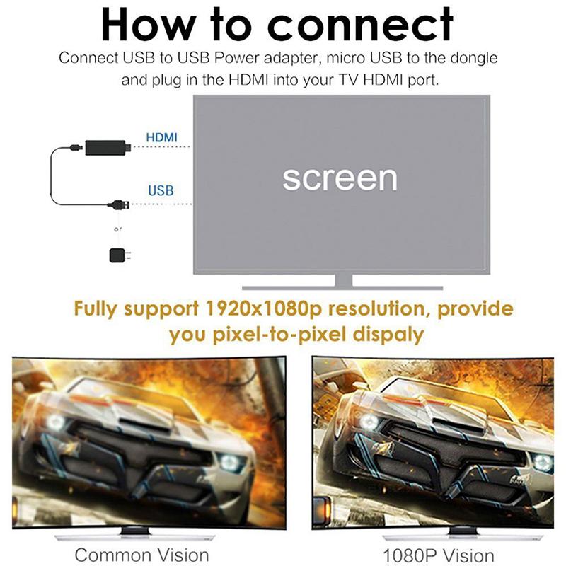 1080P Wireless Mini Display Receiver Wifi Display Dongle Adapter