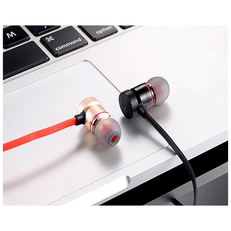 Magnet Wireless Bluetooth Earphone Stylish Sports Headset Headphone - Black