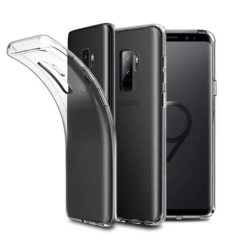 Clear Shockproof TPU Gel Case Protective Cover for Samsung S9 Plus