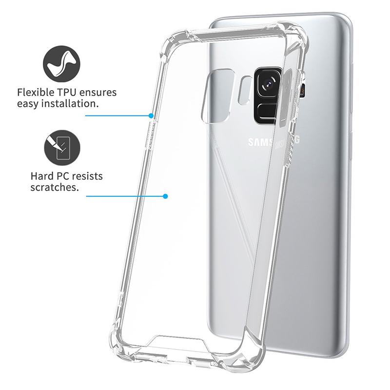 Transparent Clear Gel TPU Shockproof Bumper Case Samsung Galaxy S9