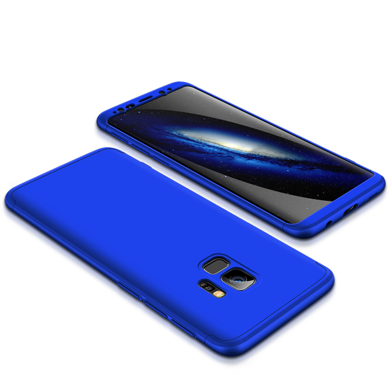 360 Degree Full Protective Cover Ultra Slim Hard Case for Samsung S9 - Blue