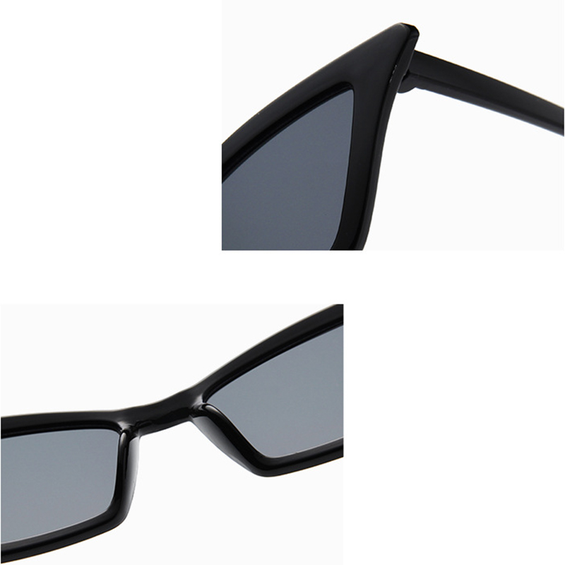 Women's Retro Cat Eye Sunglasses Outdoor Sunglasses Eyewear - Black + Grey