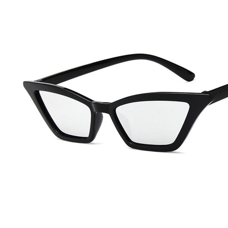 Women's Retro Cat Eye Sunglasses Outdoor Sunglasses Eyewear - Black + Clear