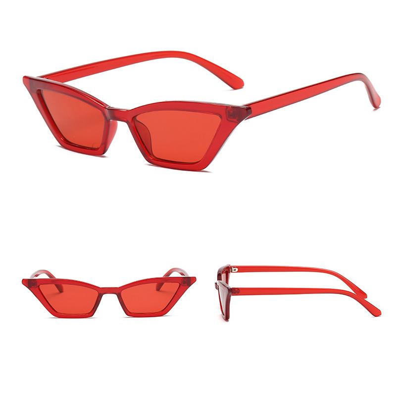 Women's Retro Cat Eye Sunglasses Outdoor Sunglasses Eyewear - Red