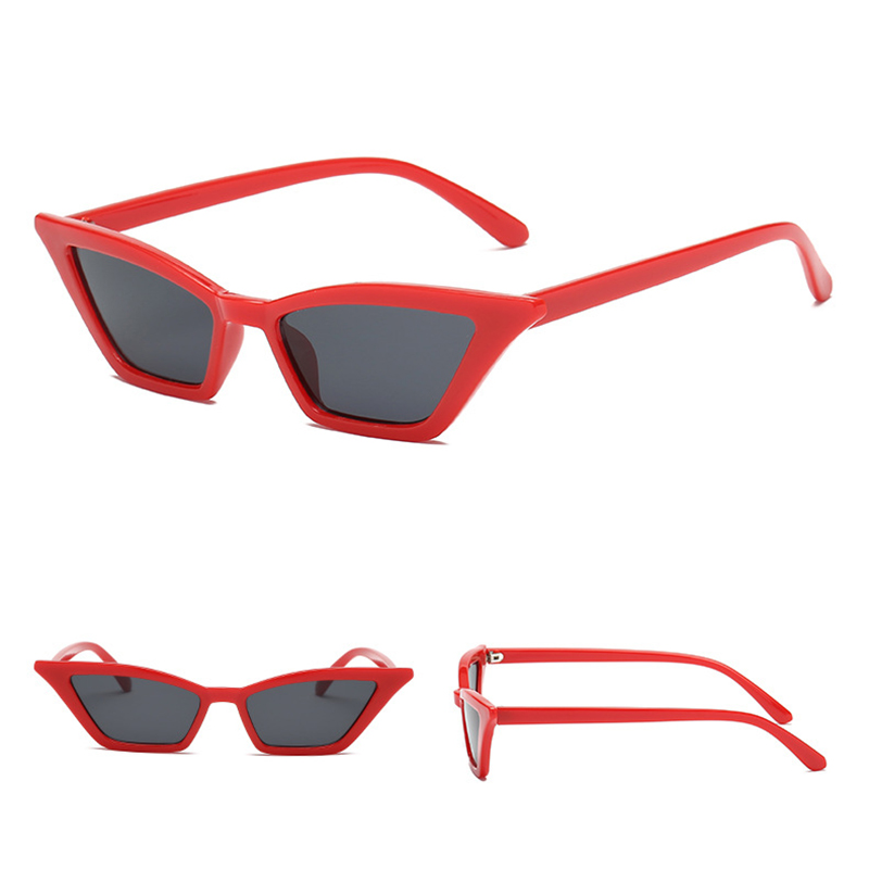 Women's Retro Cat Eye Sunglasses Outdoor Sunglasses Eyewear - Red + Grey