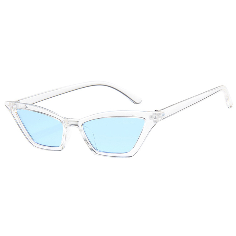 Women's Retro Cat Eye Sunglasses Outdoor Sunglasses Eyewear - Clear + Blue