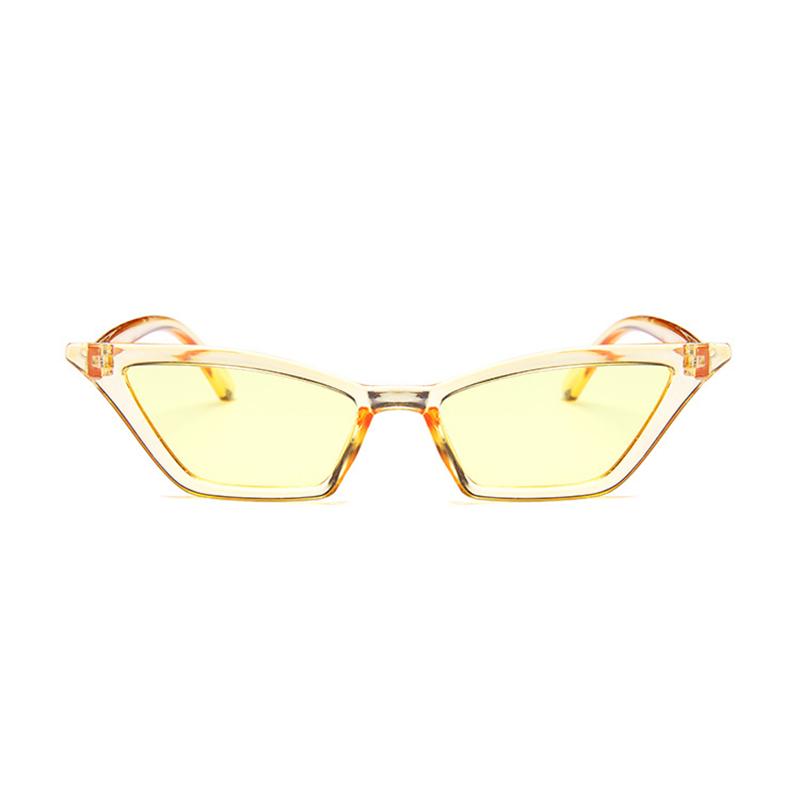Women's Retro Cat Eye Sunglasses Outdoor Sunglasses Eyewear - Yellow
