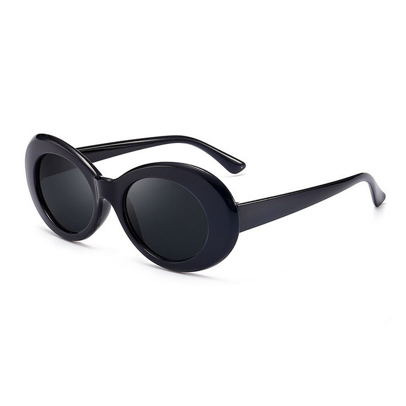 Retro Men Women Classic Sunglasses UV Protection Outdoor Sunglasses - Black + Grey