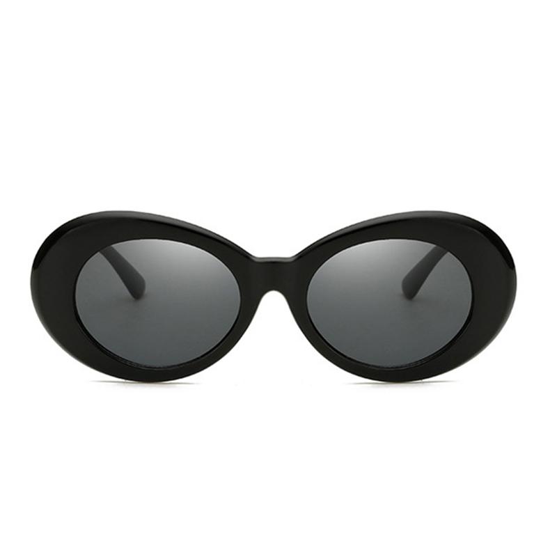 Retro Men Women Classic Sunglasses UV Protection Outdoor Sunglasses - Black + Grey