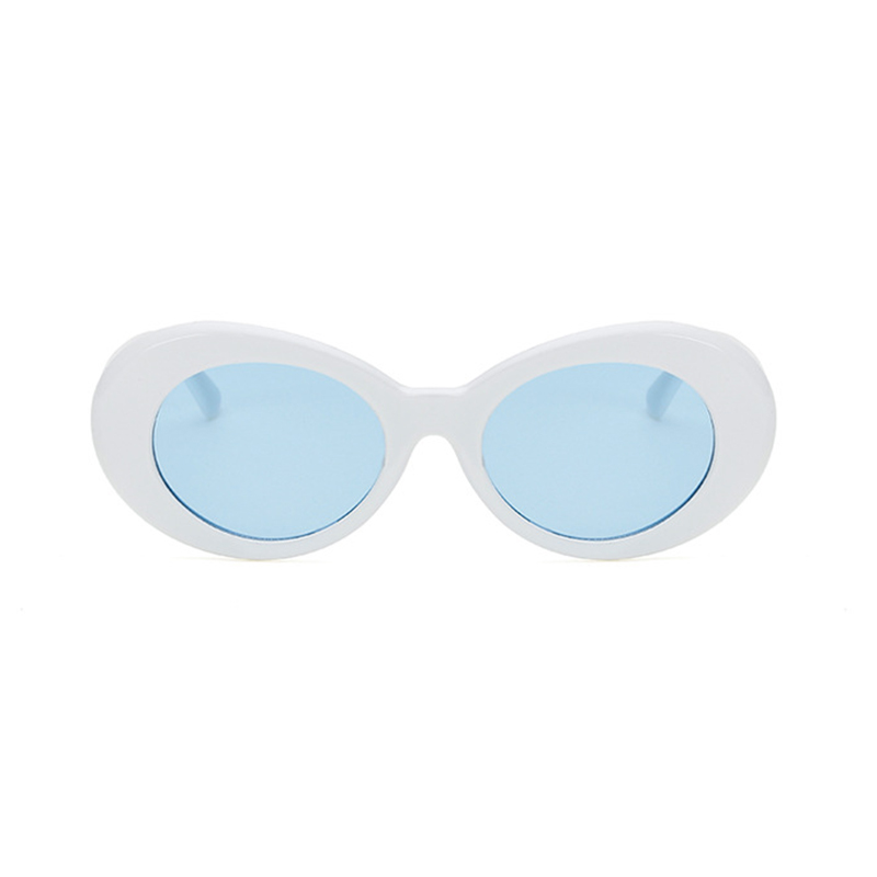 Retro Men Women Classic Sunglasses UV Protection Outdoor Sunglasses - White + Blue