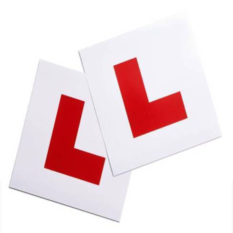 L Plate Magnetic Exterio Car Learner Secure Safe Driving Vehicle Sticker