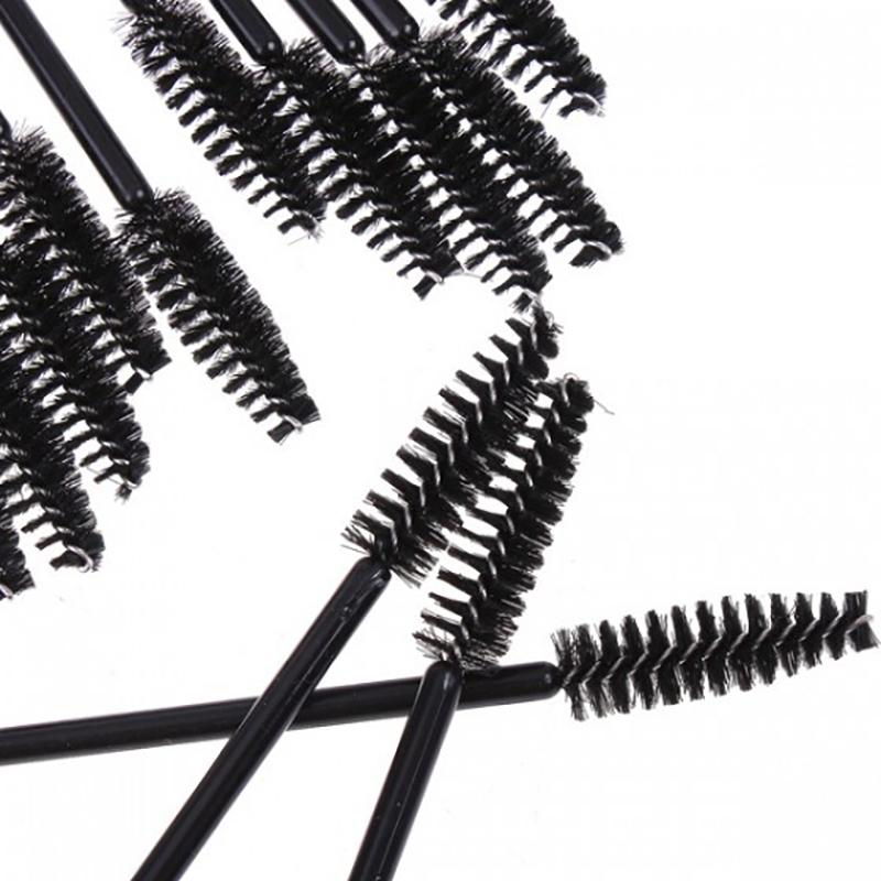 50pcs Disposable Plastic Eyelash Wands Mascara Brushes Lash Extension Applicator