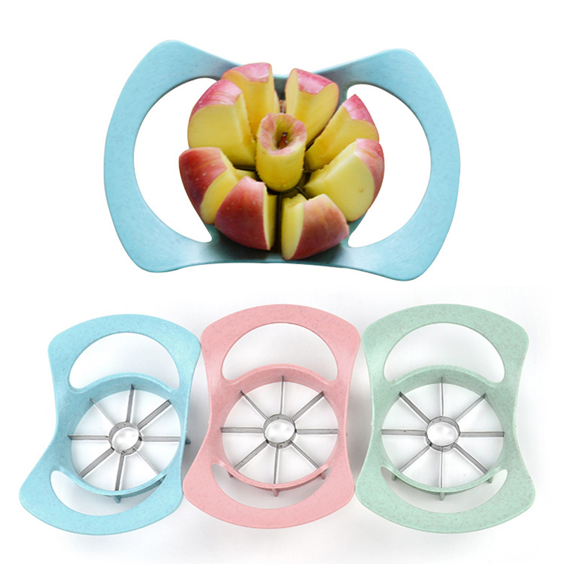 Apple Wedger Slicer Cutter Stainless Steel Fruit Peeler Divider Kitchen Tool - Random Colour