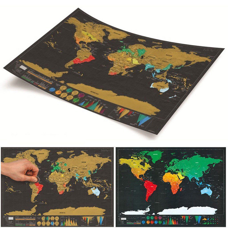 42.3*30cm Scratch Off World Map Poster Journal Log Giant Map Of The World Gift