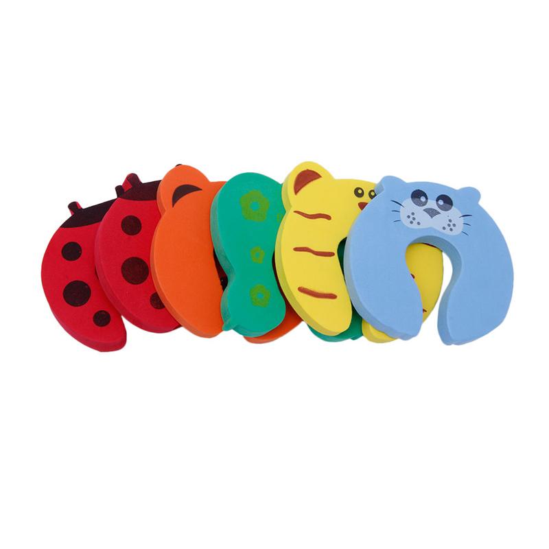 Cartoon Door stopper Baby Child Kids Safety Finger Protector Guard Foam - Random Colour