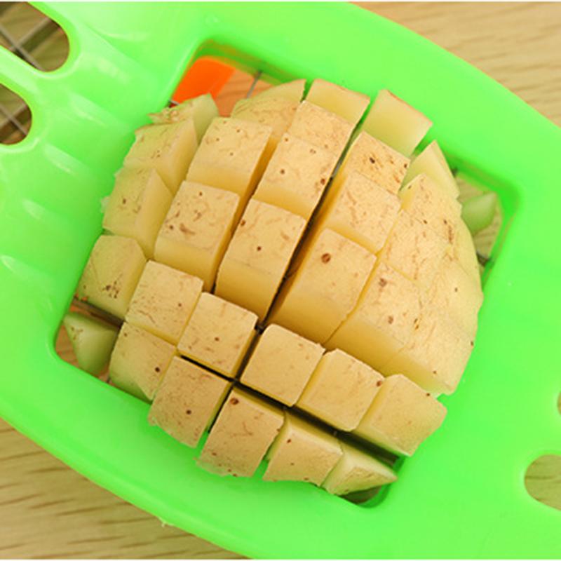 French Fry Potato Chip Cutter Vegetable Fruit Slicer Chopper Chipper Blade Dicer - Random Colour