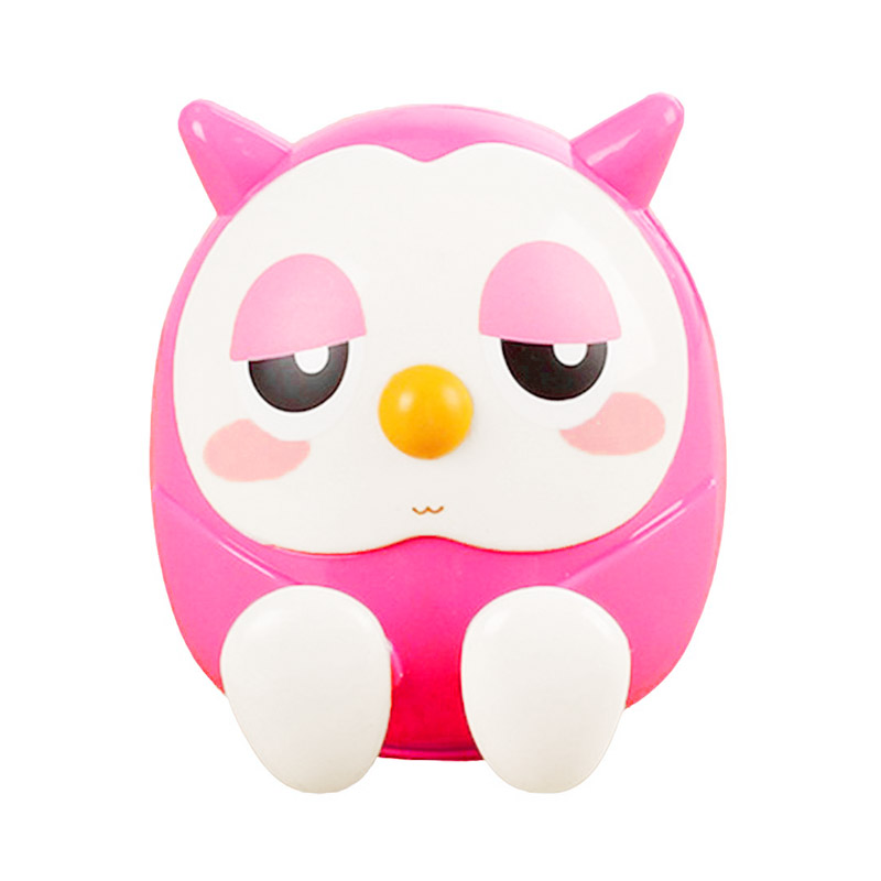 Universal Cute Owl Phone Stand Holder Bracket Saving Money Pot Coin Box - Pink