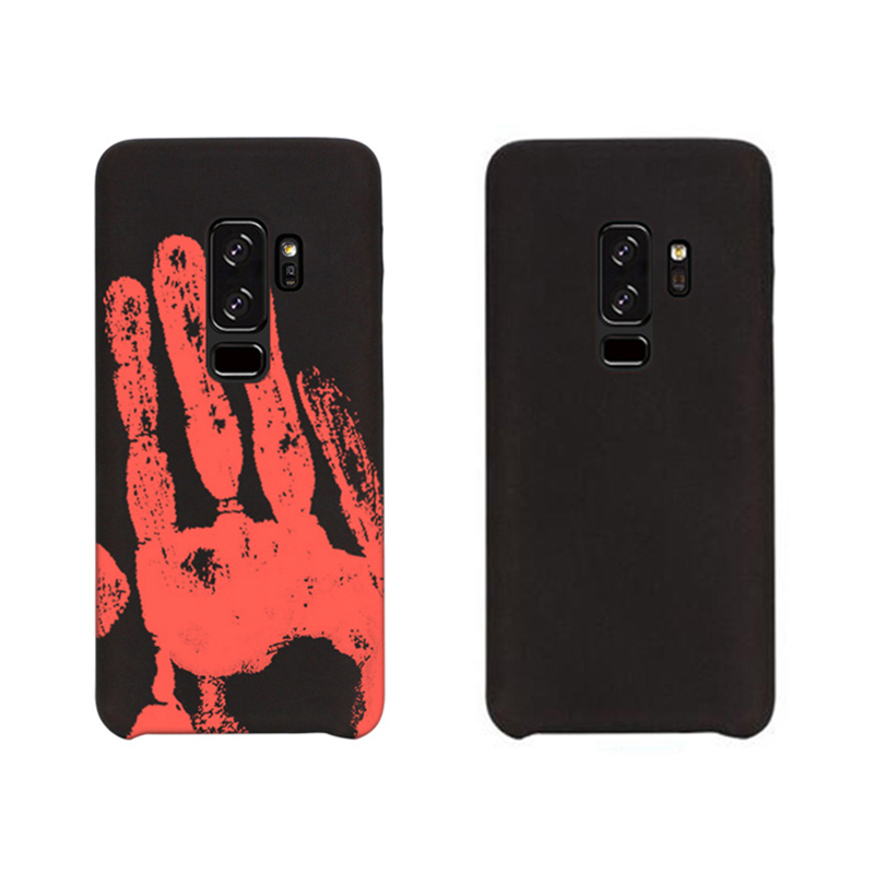 Thermal Heat Discoloration Induction Phone Case TPU Back Cover for Samsung S9 Plus - Black