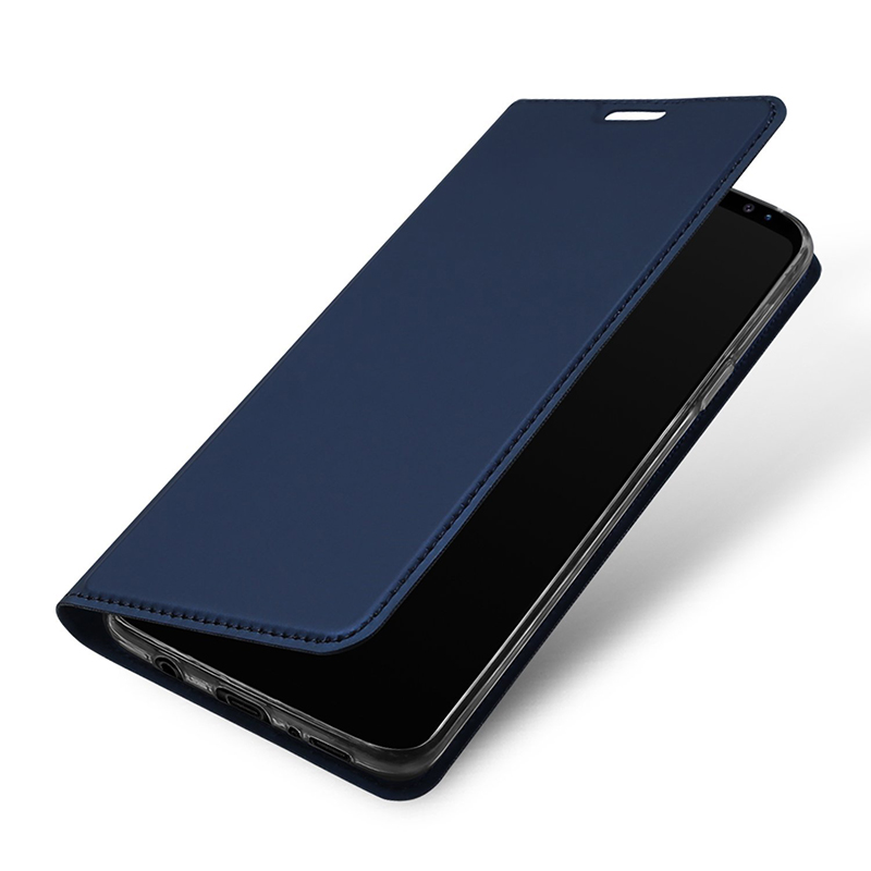 Luxury Ultra-thin Stand PU Leather Case Bumper Cover for Samsung S9 - Blue