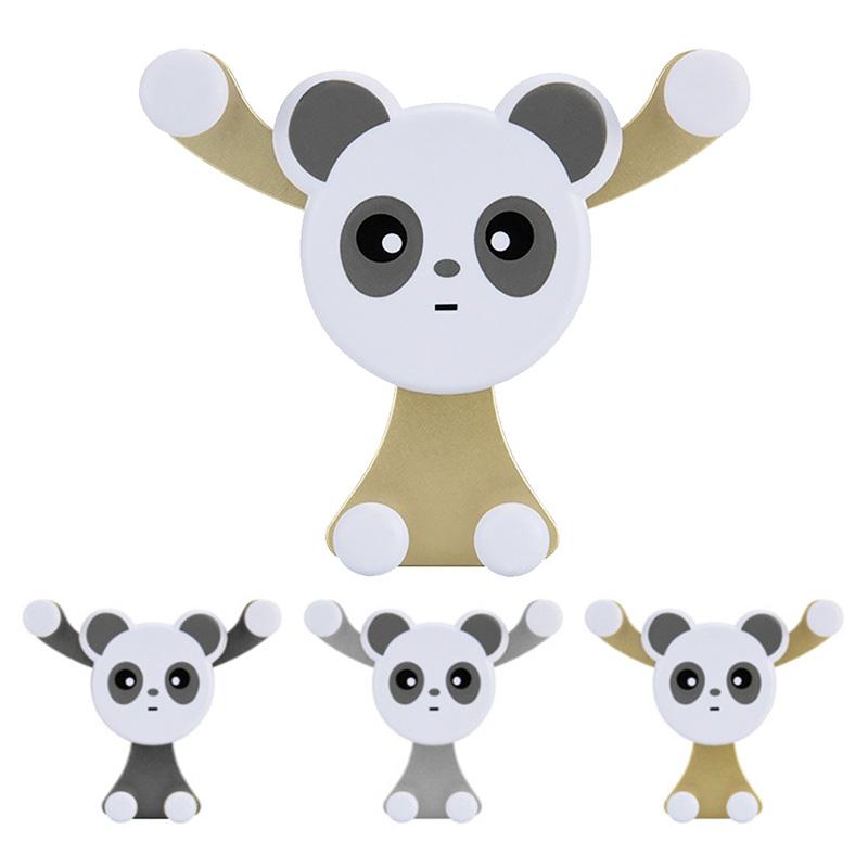 Cute Panda Car Air Vent Universal Mobile Phone Holder Stand Mount - Golden