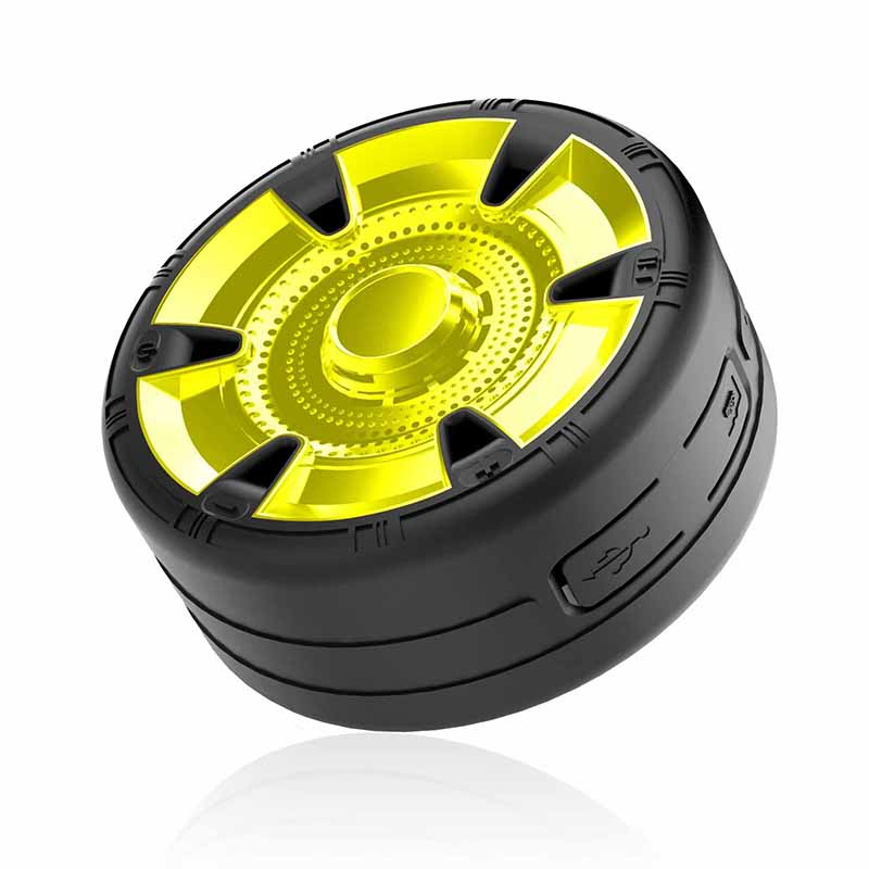 Mini Tyre Wireless Bluetooth Speaker Portable Subwoofer Stereo Music Sound Box - Yellow