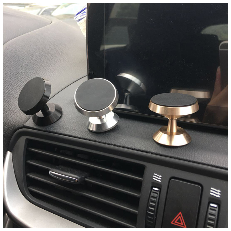 Universal 360 Degree Rotating Magnetic Dashboard Car Phone Holder Mount - Silver