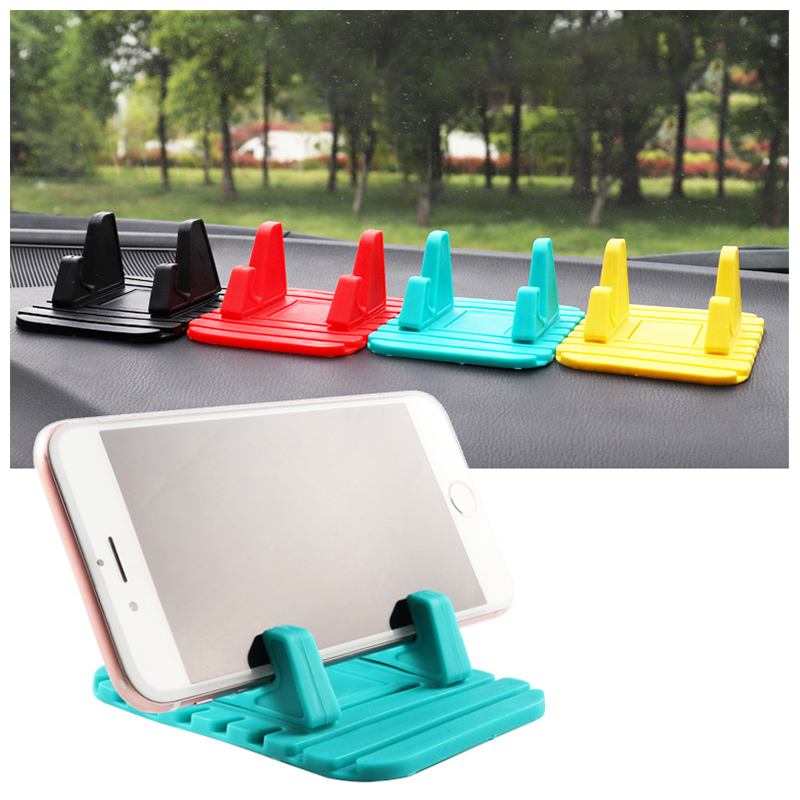 Anti-slip Silicone Universal Car Mount Dashboard Pad Mat Phone Holder - Green